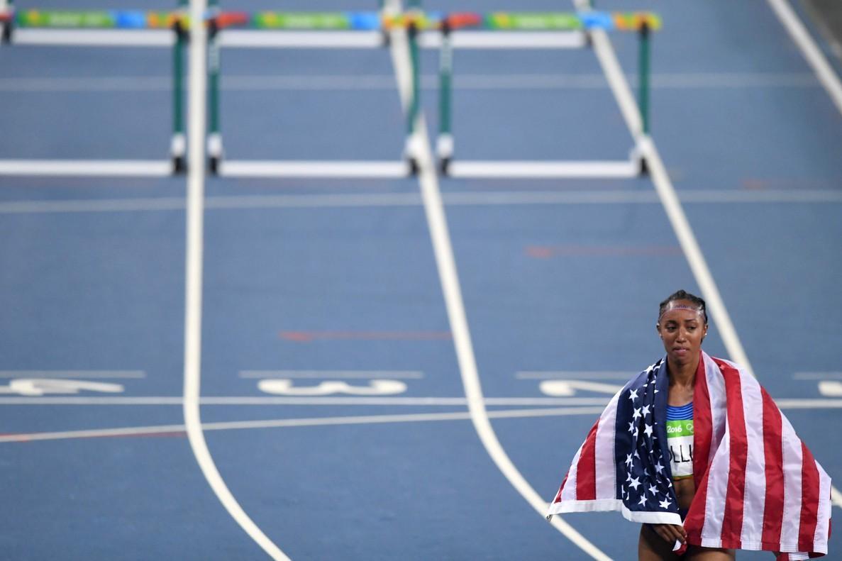 Brianna Rollins, tras ganar la medalla de oro en Río