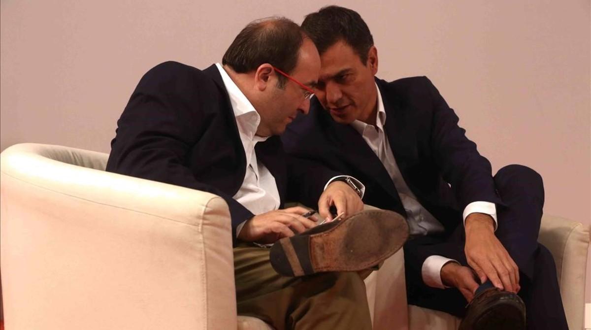 Miquel Iceta y Pedro Sánchez