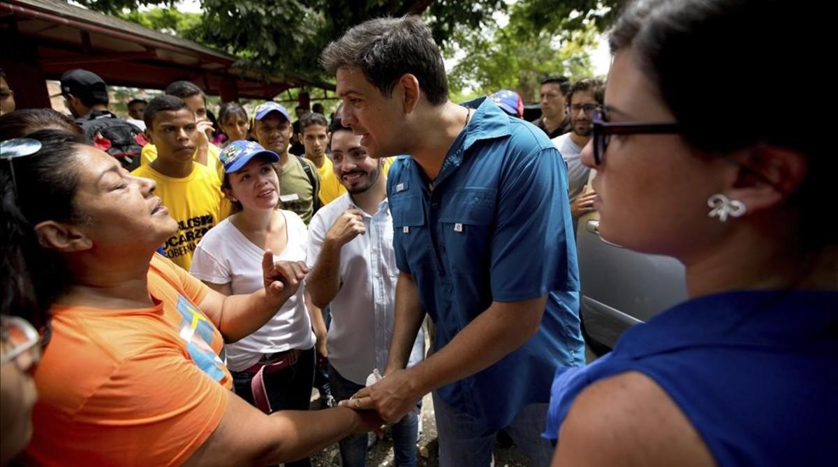 El opositor Carlos Ocariz, candidato a gobernador del estado de Miranda.