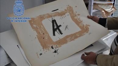 Detingut un falsificador d'autors com Tàpies, Barceló i Picasso