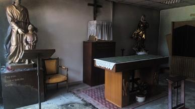 Así quedó la capilla tras el ataque.