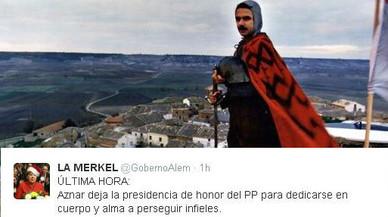 Mems i bromes arran de la renúncia d'Aznar a la presidència del PP