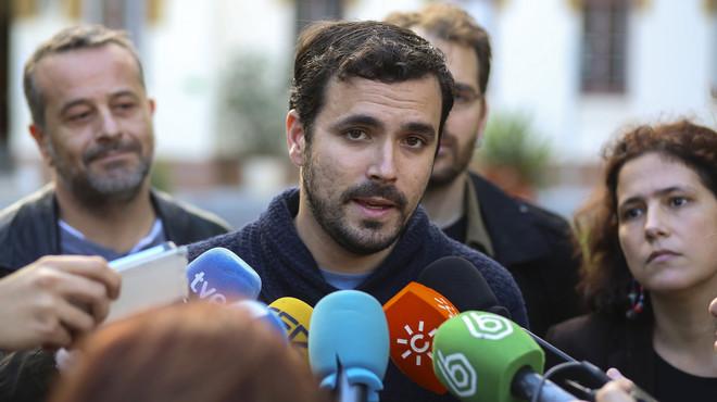 """Garzón apel·la a l'experiència d'Unitat Popular per """"enfortir aquest instrument"""" i frenar el bipartidisme"""