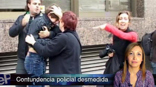 La pol�mica actuaci�n policial durante el 14-N, en El Informativo