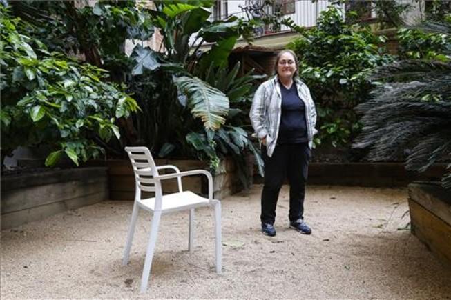Mari Carme Montserrat, una de las personas que ha vivido en la calle y colabora con el Ayuntamiento de Barcelona en un plan para mejorar las políticas en favor de los sintecho.