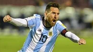Messi alivia la ansiedad de la Argentina futbolística
