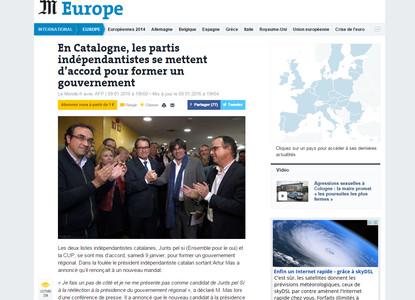 prensa internacional destaca llegada puigdemont