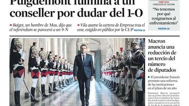Puigdemont obre totes les portades al fer fora Baiget per tebi davant el referèndum de l'1-O