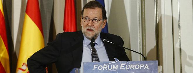 Rajoy, en el F�rum Nueva Econom�a, este lunes.