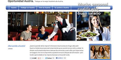 La web austriaca, en español, donde se ofertan puestos de trabajo y formación para jóvenes.