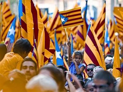 Imagen de la manifestación independentista de la pasada Diada.