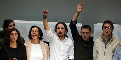 La c�pula dirigente de Podemos.