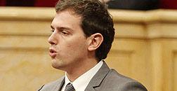 Albert Rivera, este mi�rcoles en el Parlament.