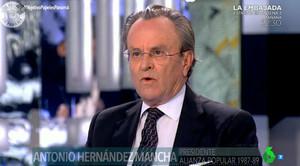 Antonio Hernández Mancha, en El Objetivo de La Sexta.