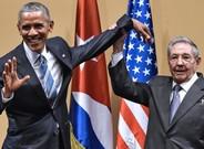 Barack Obama y Raúl Castro, durante su encuentro en La Habana, el año pasado.