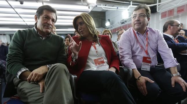 """Susana Díaz, en el comité federal: """"Un Gobierno de coalición con Podemos no lo veo"""""""