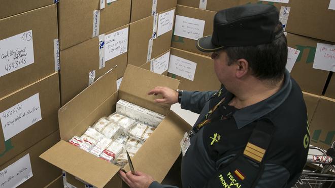 Contrabando de tabaco en el Prat