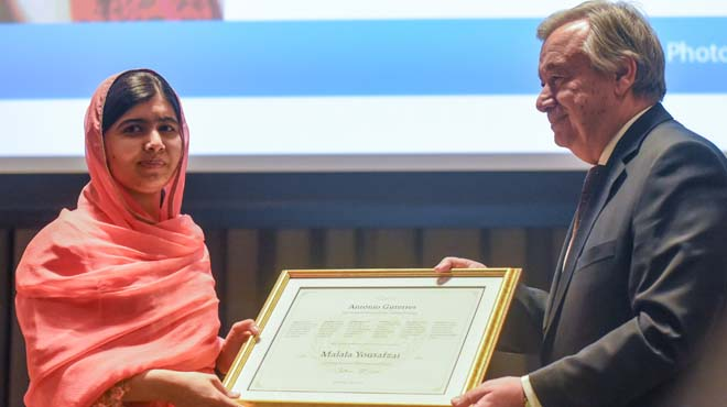 Malala, nomenada Missatgera de la Pau de l'ONU