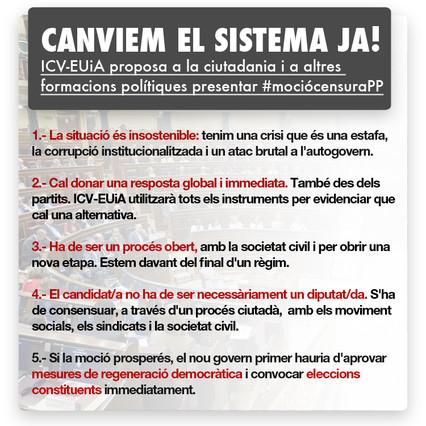 La moci�n de censura contra el PP impulsada por ICV-EUiA se propaga por las redes sociales
