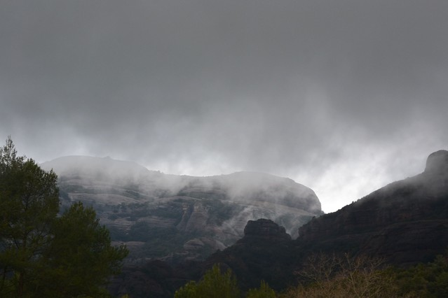 Un paisaje de pel�cula de miedo en el Montcau