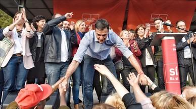 """Pedro Sánchez se erige en Sabadell en """"separatista"""" de la corrupción"""