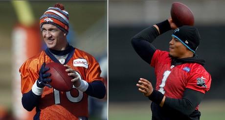 Manning vs. Newton, la batalla generacional de la Super Bowl