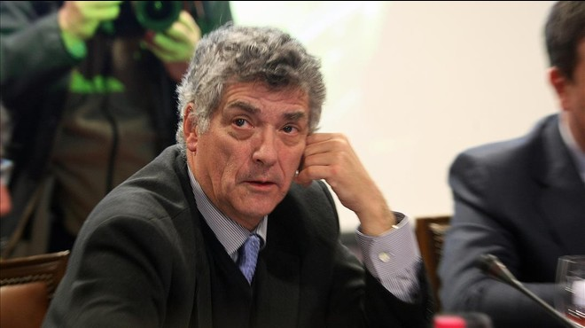 Villar, durante una reuni�n en la Federaci�n Espa�ola de F�tbol.
