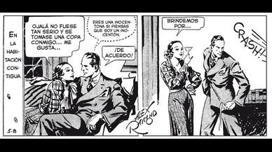 Vi�eta de las tiraspara prensa de la serie 'Agente Secreto X9', con guion de Dashiell Hammett y dibujo de Alex Raymond, publicada en mayo de 1934.