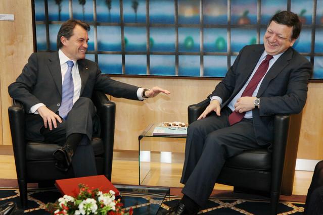 El president Mas, amb el president de la CE, Durao Barroso, el 2011.