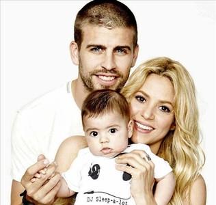 Piqué, Shakira y Milan.