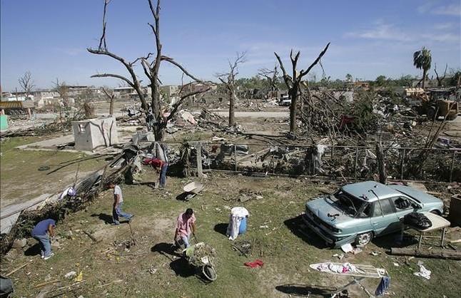 Localidad en las afueras de Piedras Negras, en México, arrasada por un tornado, en una imagen de archivo, en el 2007.