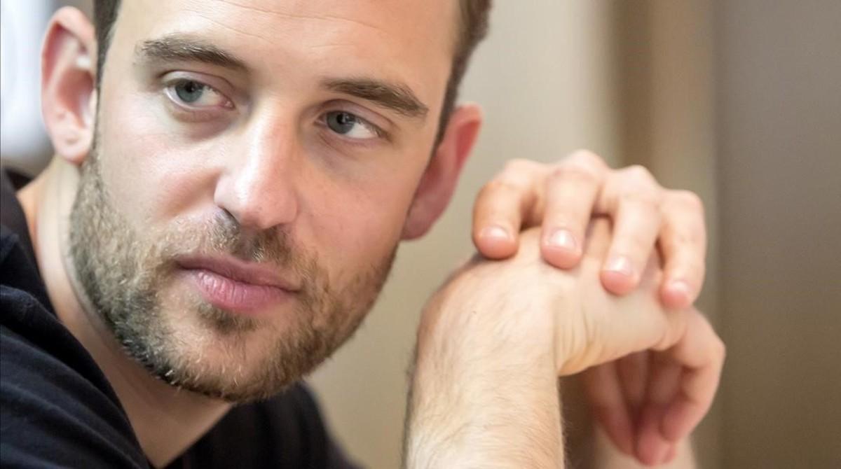 El escritor suizo Joël Dicker, este martes en Madrid.
