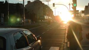 Los rayos de sol afectan a la conducción