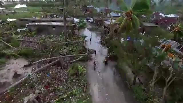 Un dron mostra, des de l'aire, la devastació que 'Matthew' ha deixat a Haití
