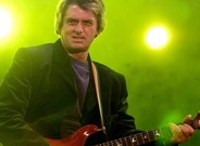 El artista británico Mike Oldfield, durante una actuación en Berlín.