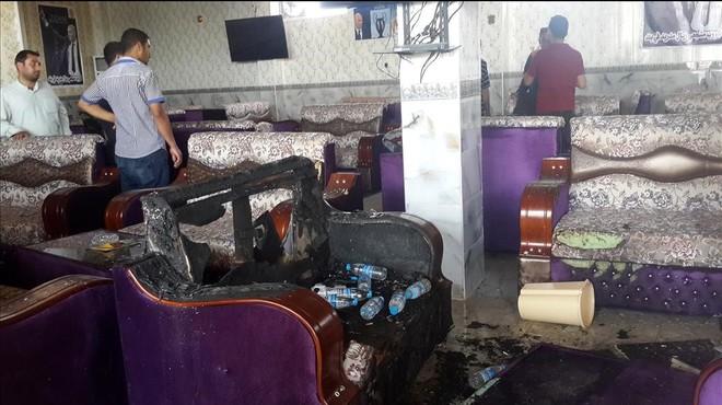 Instalaciones de la pe�a madridista atacada en Balad el 13 de mayo.
