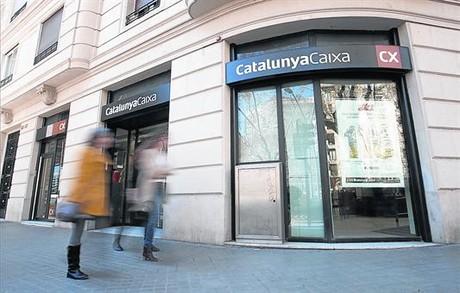 Oficina de CatalunyaCaixa en el paseo de Sant Joan de Barcelona.