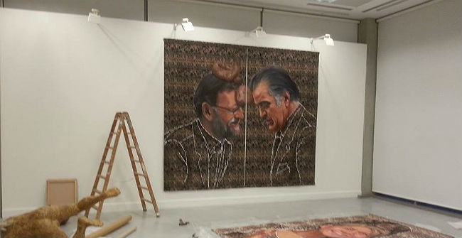 Els quadros de Rajoy, Bárcenas i la infanta, en el centre del debat.