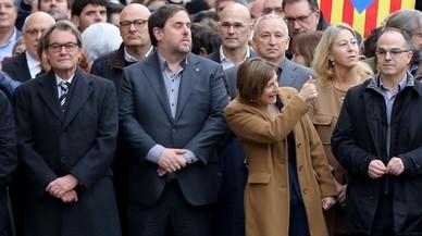 La presidenta del Parlament Carme Forcadell, el pasado 16 de diciembre, llegando al Palacio de Justicia de Barcelona.