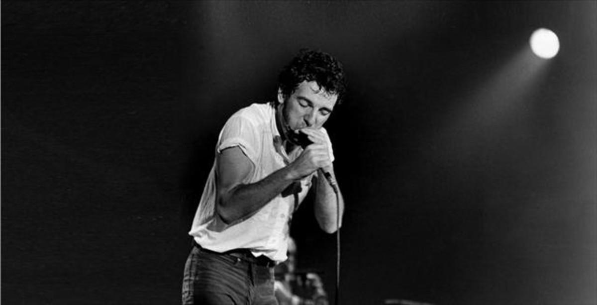 Primer concierto de Springsteen en Barcelona, en el Palau d'Esports, el 21 de abril de 1981.