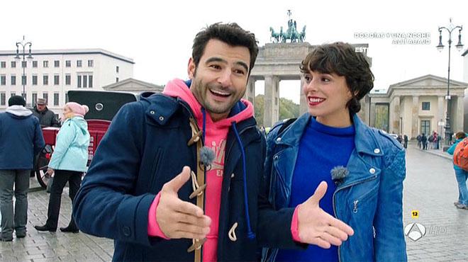 Bel�n Cuesta y Antonio Vel�zquez, en Berl�n (A-3 TV).