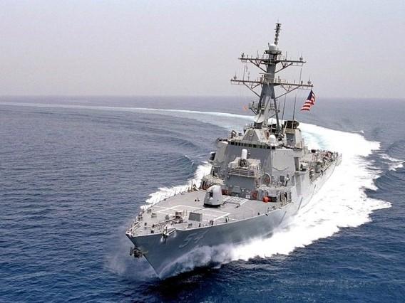 Foto de archivo del destructor USS Curtis Wilbur, equipado con el sistema de combate Aegis, uno de los más avanzados del mundo para la guerra desde el mar. EFE