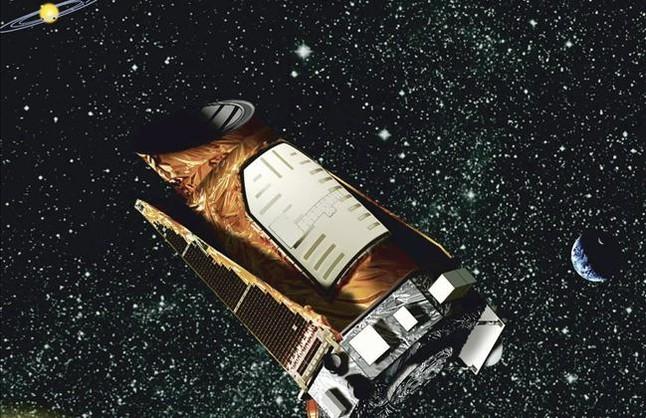 Recreación del telescopio 'Kepler' en órbita, según la Nasa.
