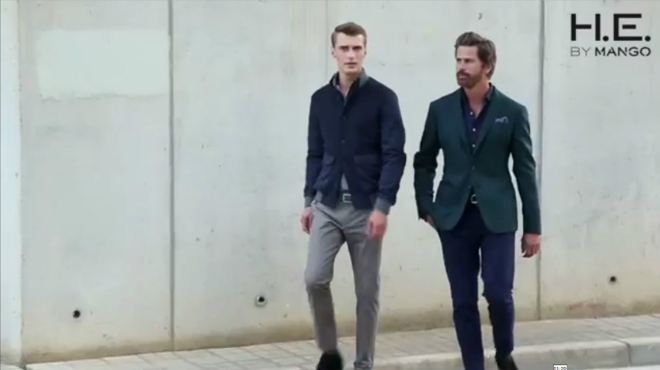 'Making off' de la �ltima campa�a de HE by Mango, con Mark Vanderloo y Clement Chabernaud.