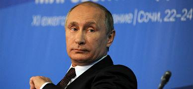 Vladimir Putin, durante la conferencia con analistas occidentales, el viernes en Sochi.