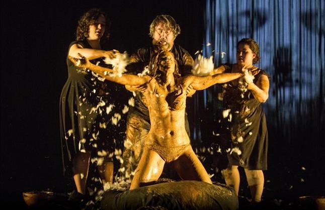 Aitana Sánchez Gijón, en una escena de Medea,