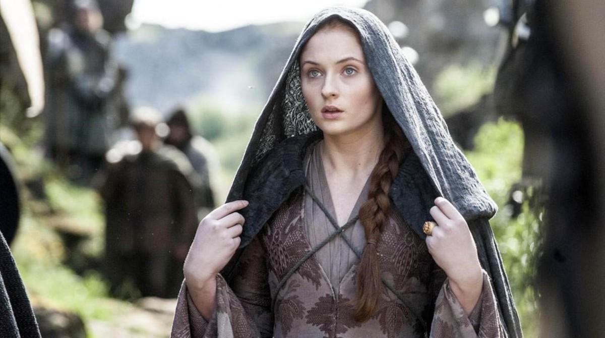 Sophie Turner, como Sansa, en Juego de tronos