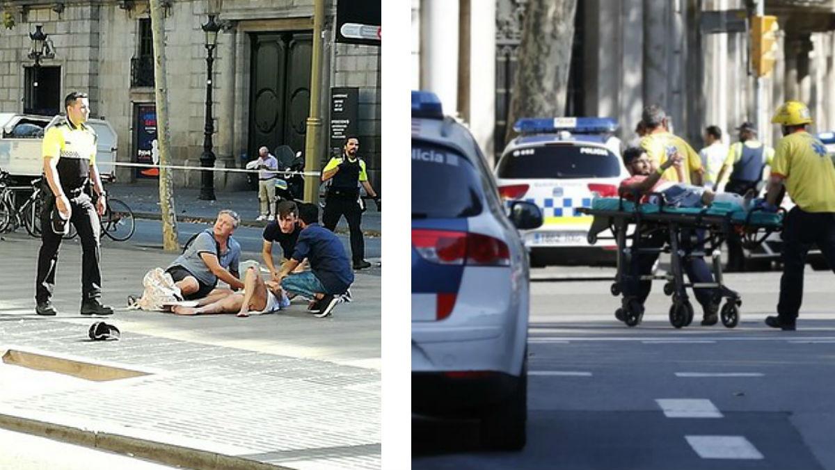 Imágenes de testigos del atropello en la Rambla de Barcelona