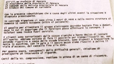 El director de l'hotel d'Itàlia havia suplicat per mail a les autoritats un rescat hores abans de l'allau de neu