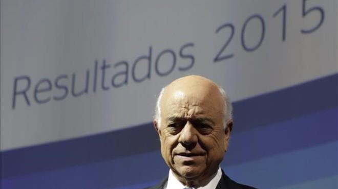 El presidente del BBVA, Francisco Gonz�lez, en la rueda de prensa de presentaci�n de resultados.